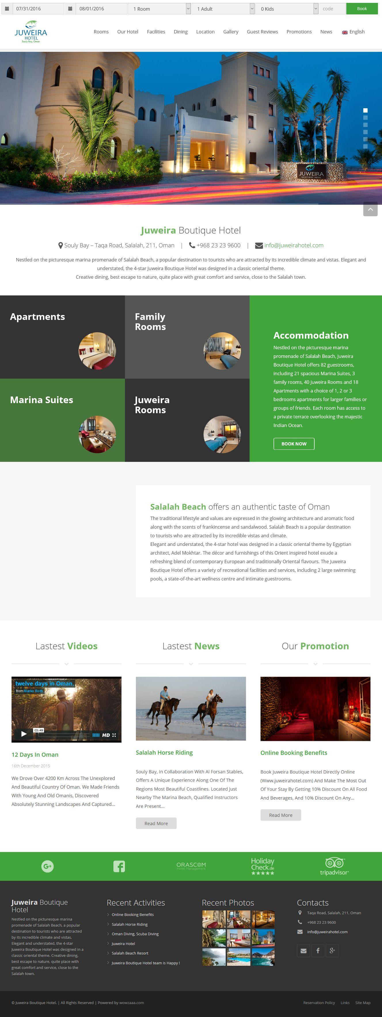 juweira hotel web design