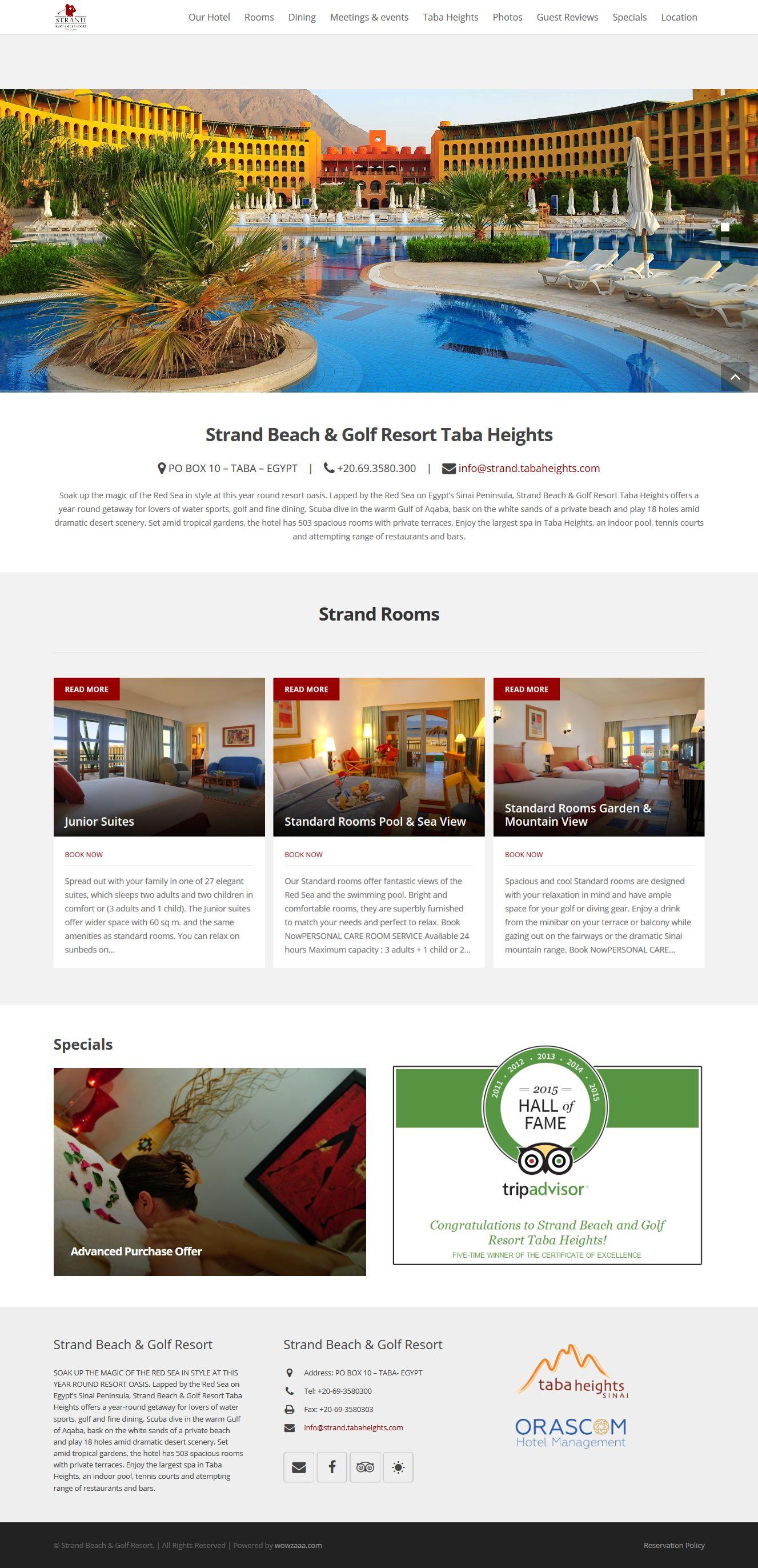 strand tabaheights web design