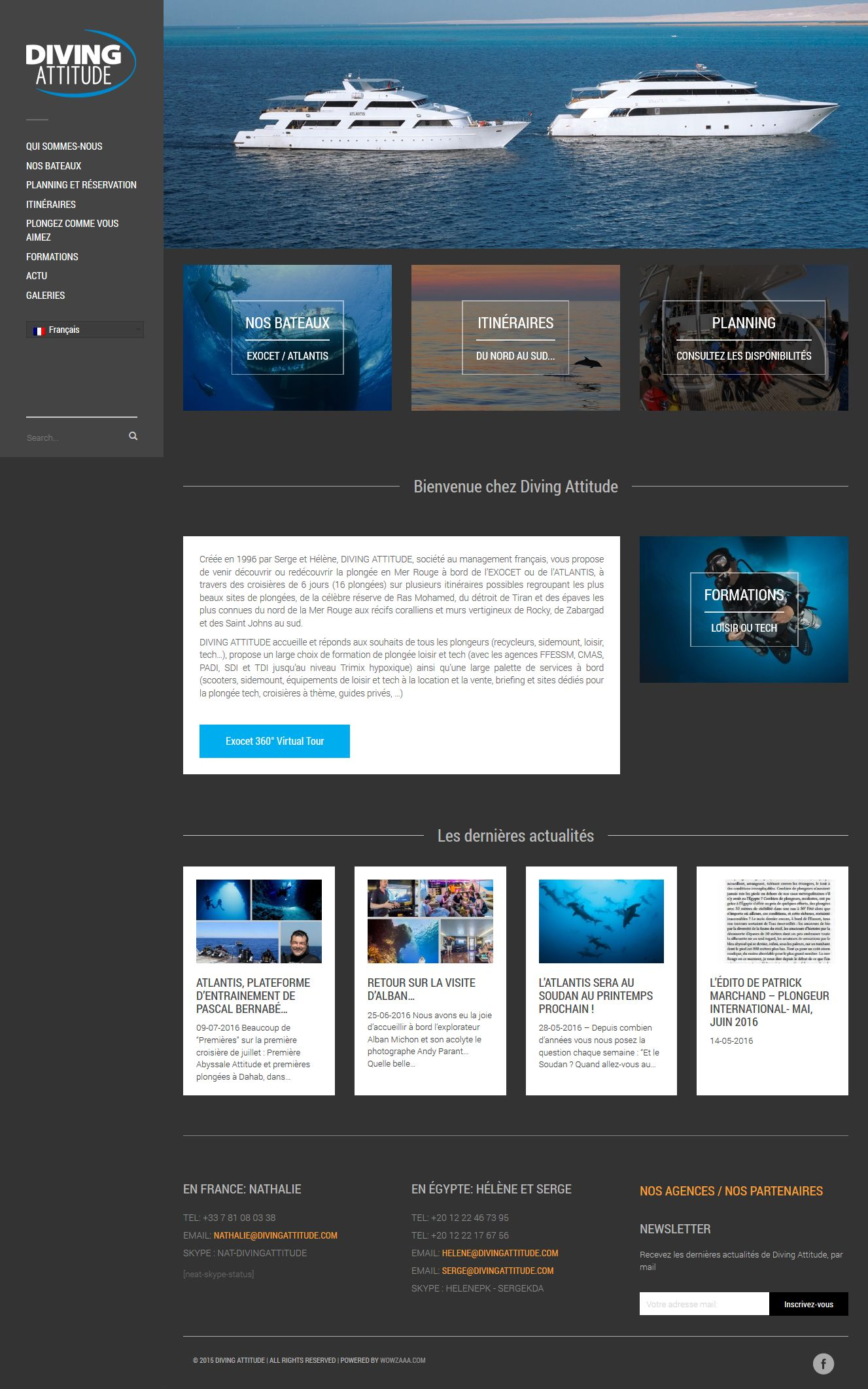 Diving Attitude web design