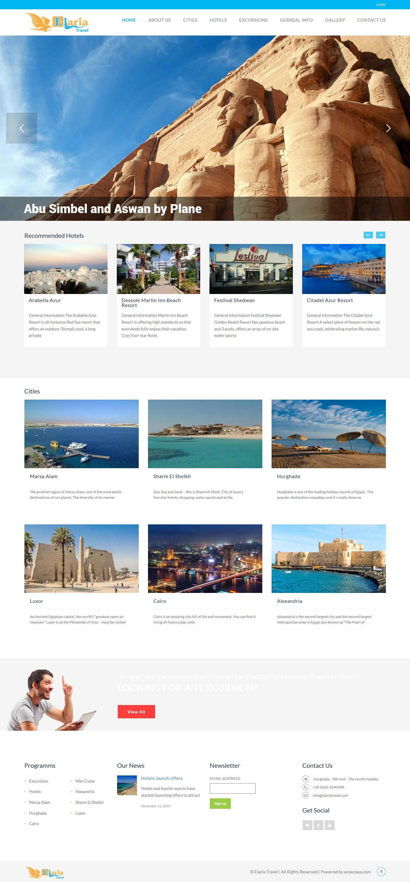 elariatravel web design