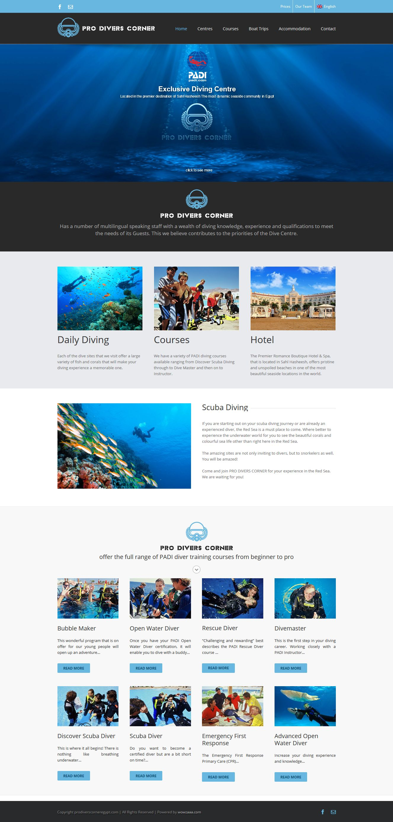 prodiverscorner egypt web design